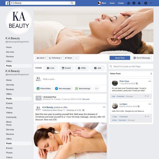 Portfolio - KA Beauty Facebook page