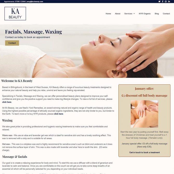 Portfolio - KA Beauty Website