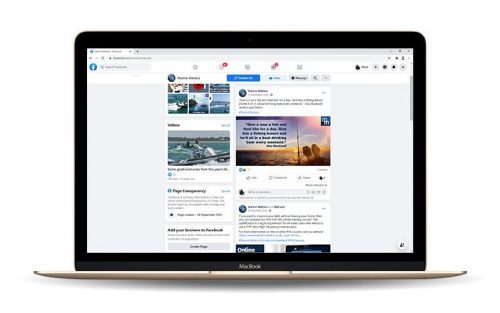 Laptop showing Social Media Marketing